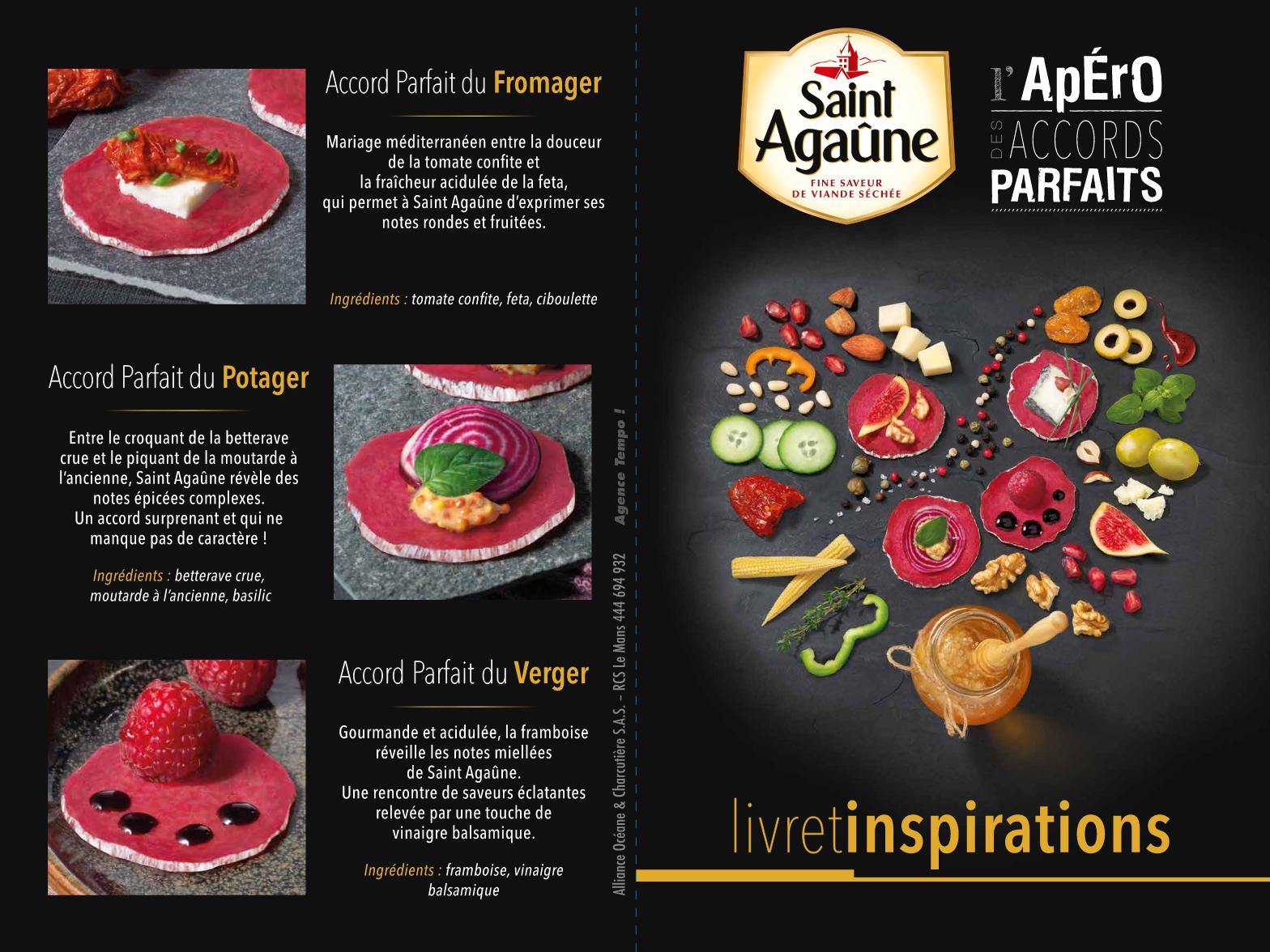 Leaflet « L'Apéro des Accords Parfaits » - Saint Agaûne